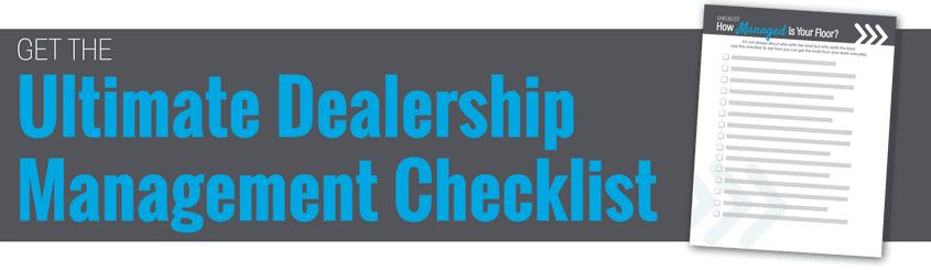 Ultimate Dealership Management Checklist
